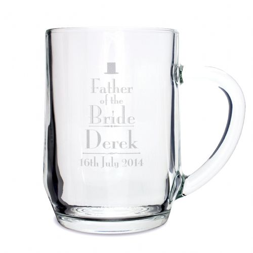 Personalised Decorative Wedding Father of the Bride Tankard